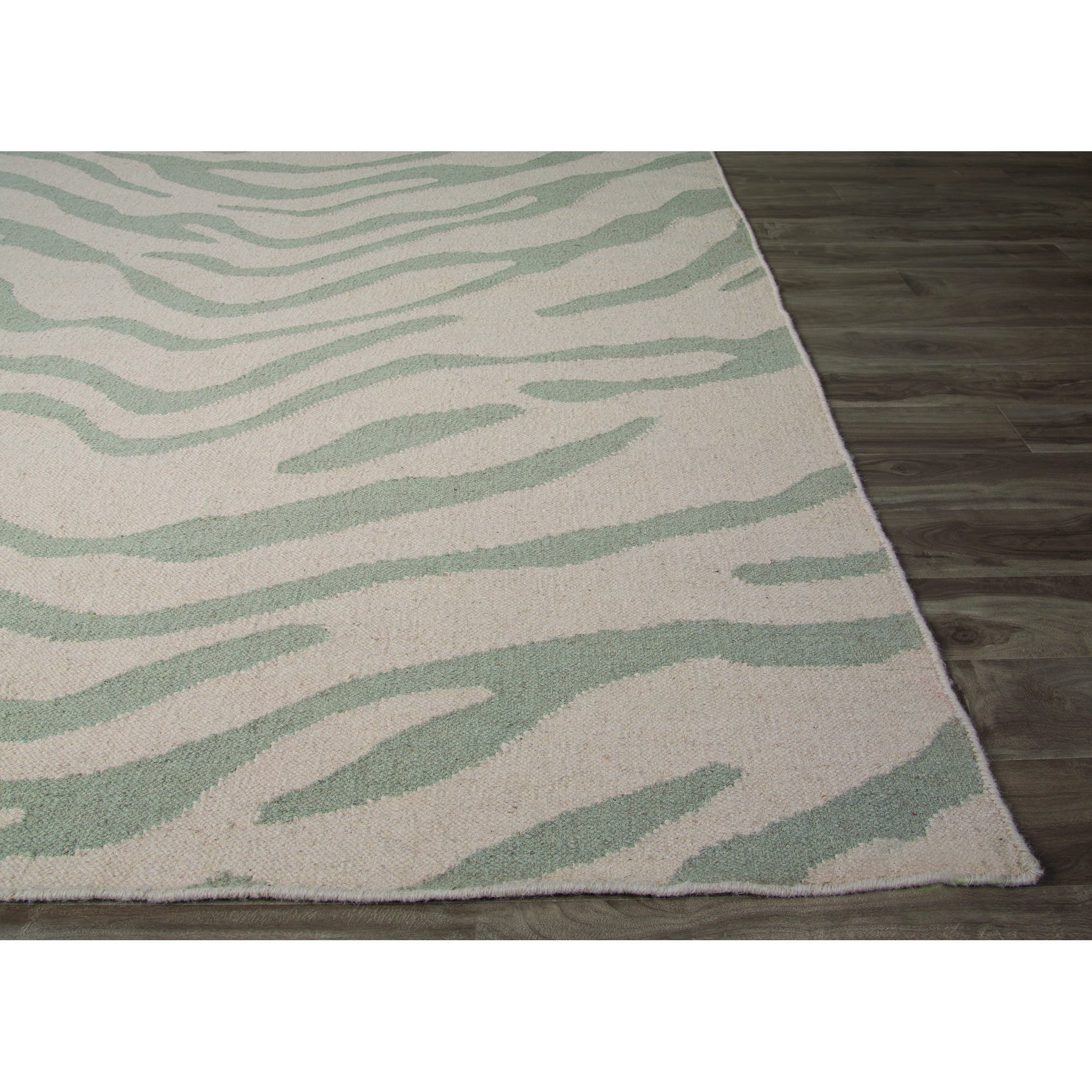 Jaipur Rugs FlatWeave Animal Print Pattern Gray Wool Area