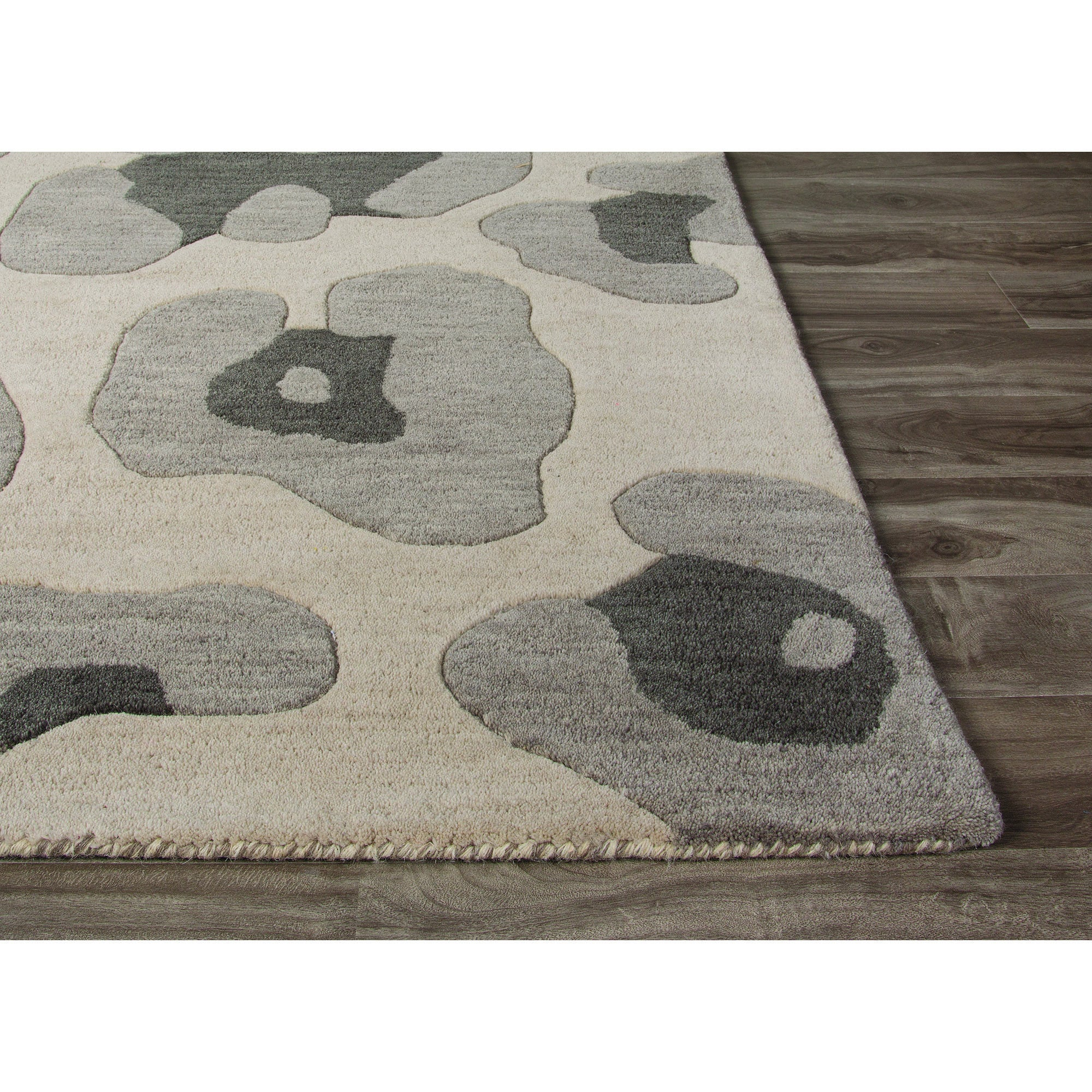 Jaipur Rugs Modern Animal Print Pattern Gray Wool Area Rug