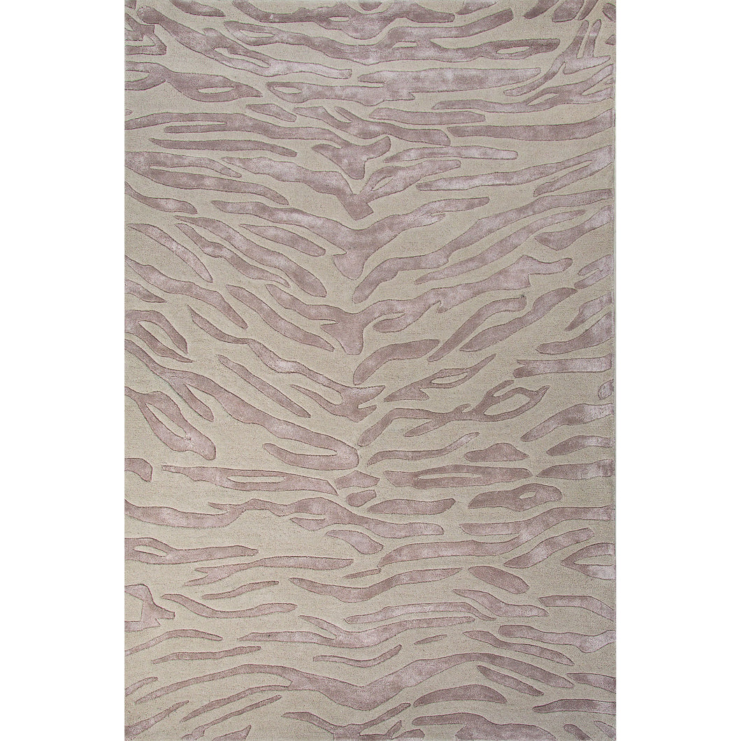 Jaipur Rugs Modern Animal Print Pattern Ivory/White Wool