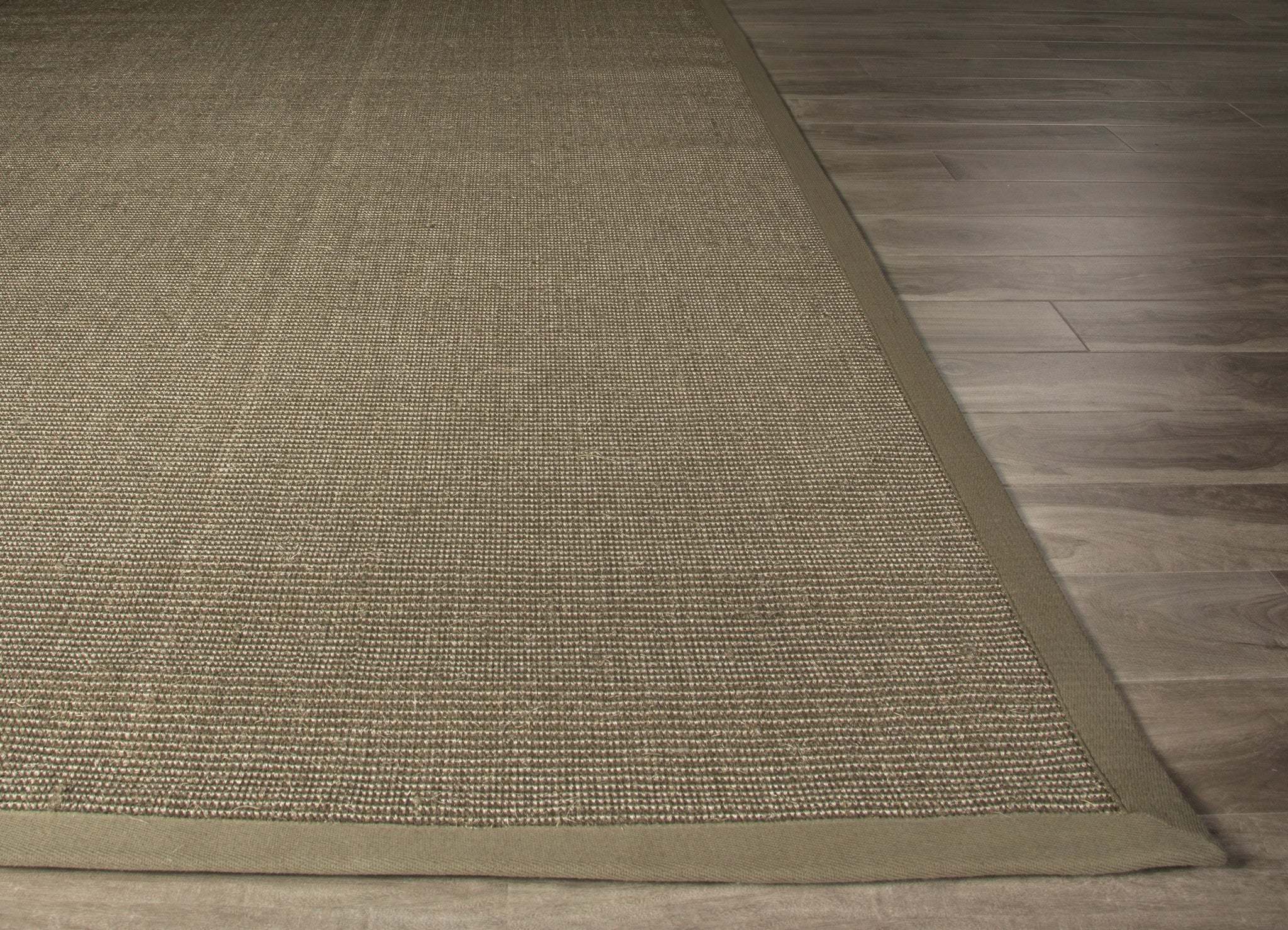 Jaipur Rugs Naturals Solid Pattern Green Taupe Sisal Area