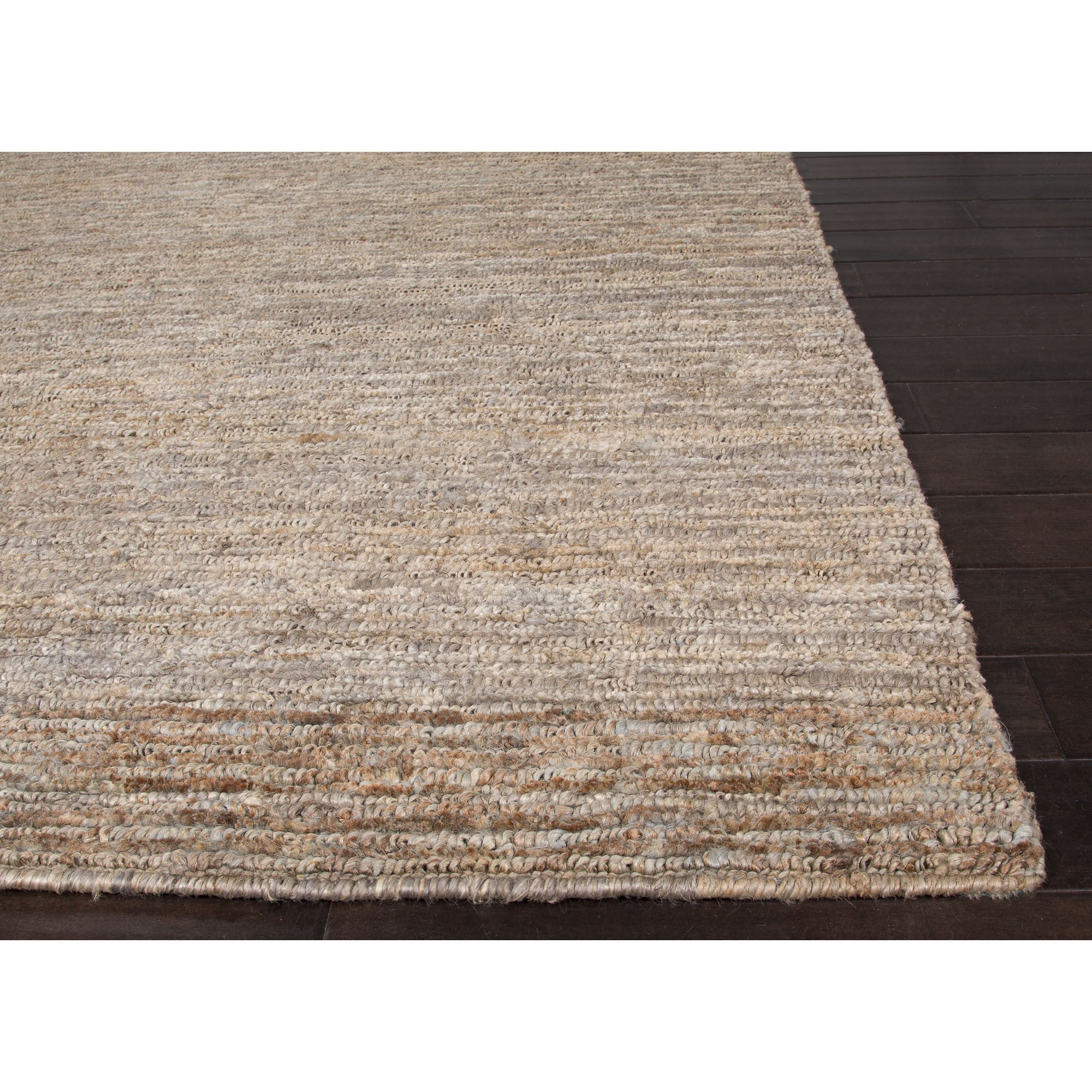 Jaipur Rugs Naturals Solid Pattern Taupe/Gray Hemp Area