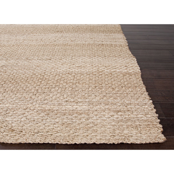 Jaipur Rugs Naturals Solid Pattern Taupe Ivory Jute Area