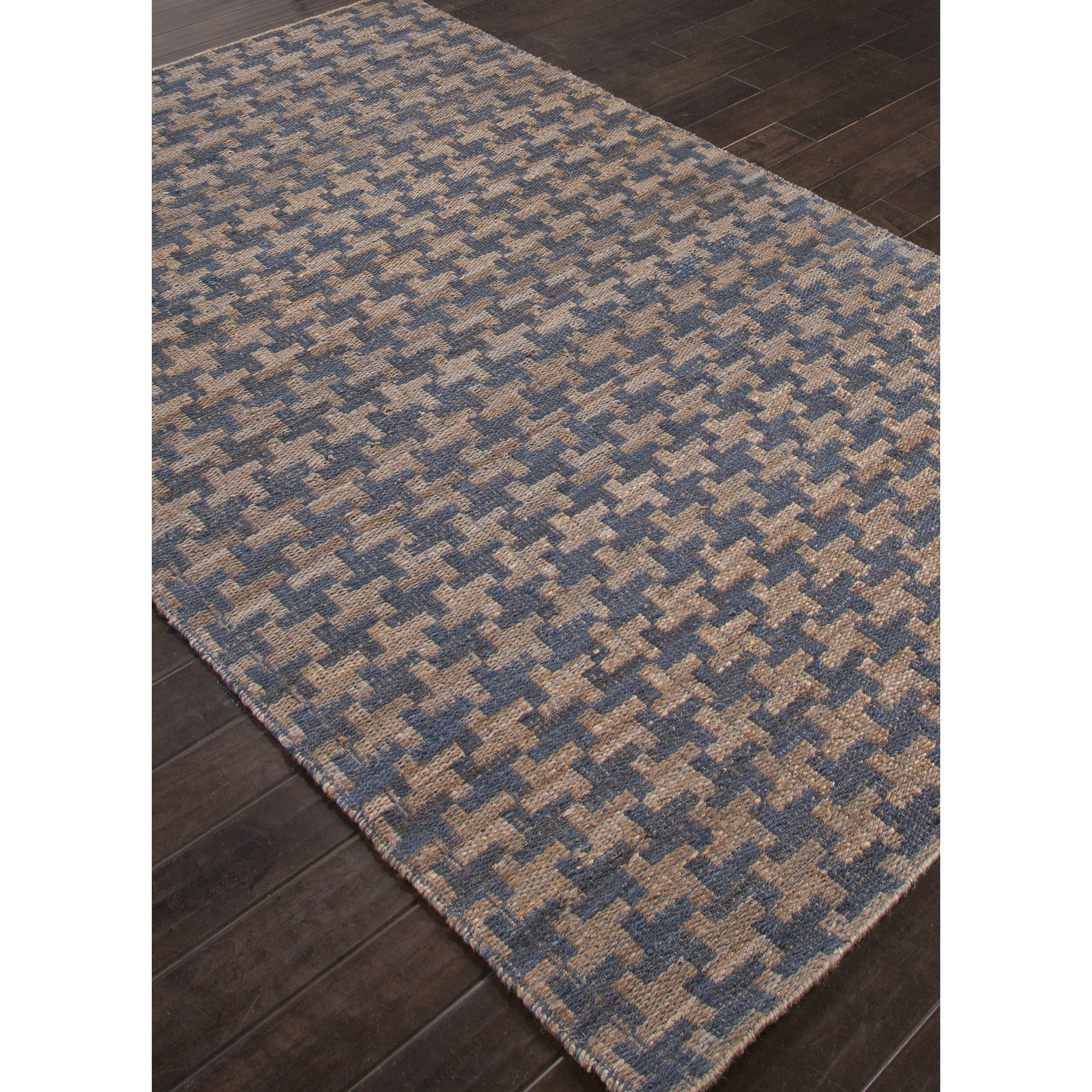 Jaipur Rugs Naturals Solid Pattern Blue/Taupe Hemp Area