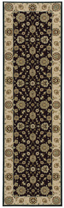 Nourison Persian Crown Black Area Rug PC002 BLACK