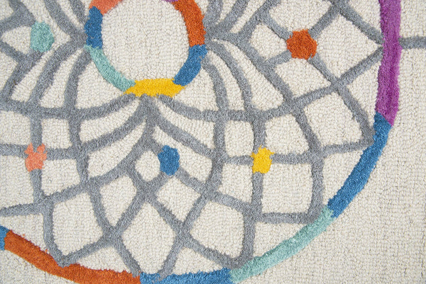 Rizzy Home Play Day Pd582a Ivory Dream Catcher Area Rug