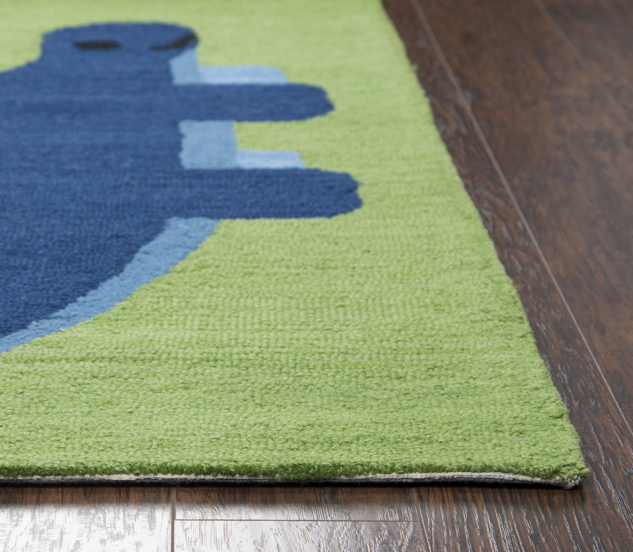 Rizzy Home Play Day Pd603a Green Dinosaur Area Rug Rugmethod