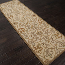 Load image into Gallery viewer, Jaipur Rugs Transitional European Pattern Taupe/Orange Wool Area Rug PM04 (Runner)