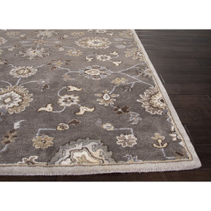 Jaipur Rugs Transitional Oriental Pattern Gray/Ivory Wool Area Rug PM105 (Rectangle)