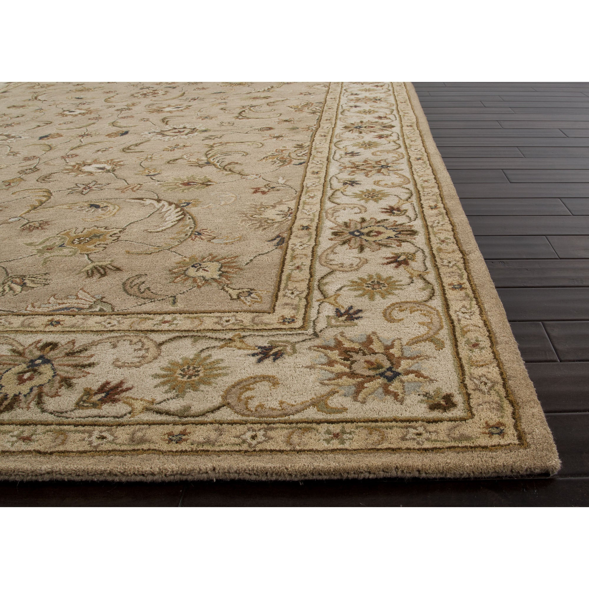 Jaipur Rugs Classic Oriental Pattern Taupe Ivory Wool Area