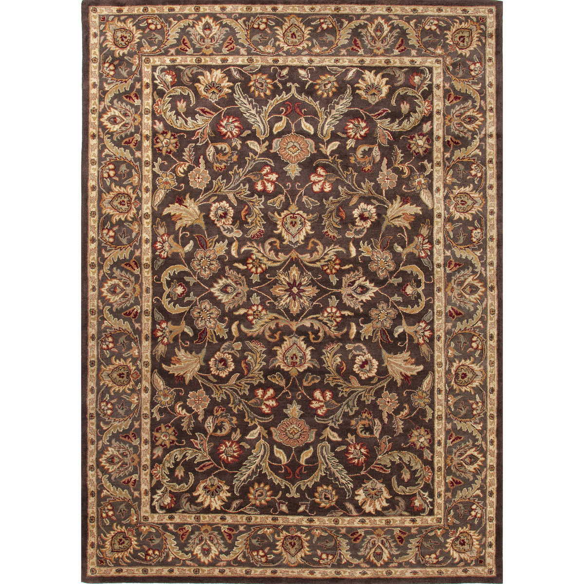 Jaipur Rugs Classic Oriental Pattern Brown/Taupe Wool Area