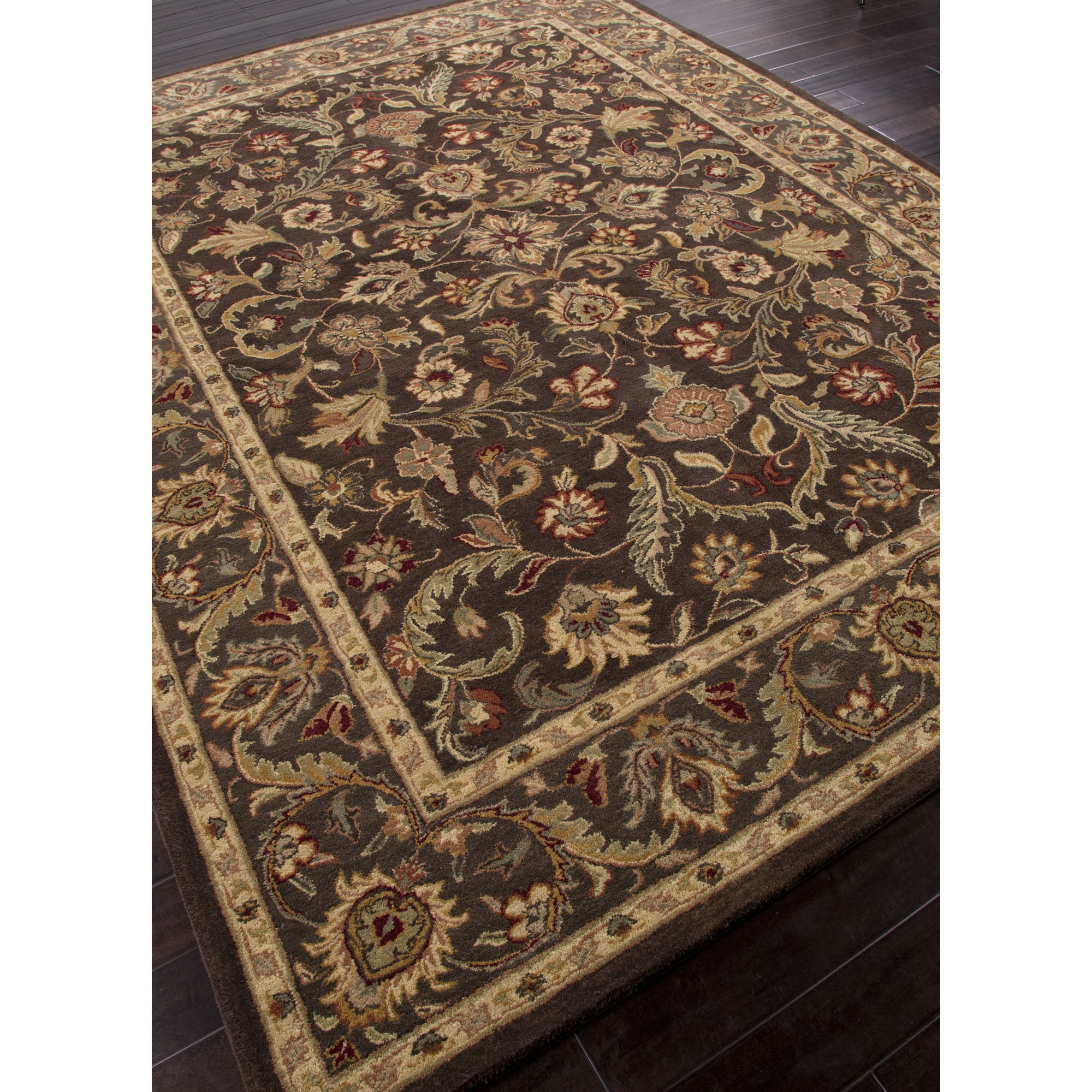 Jaipur Rugs Classic Oriental Pattern Brown Taupe Wool Area