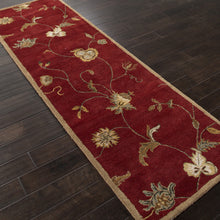 Load image into Gallery viewer, Jaipur Rugs Transitional Floral Pattern Red/Ivory Wool Area Rug PM41 (Runner)
