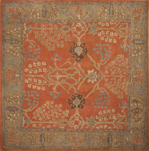 Jaipur Rugs Classic Arts And Crafts Pattern Orange/Brown Wool Area Rug