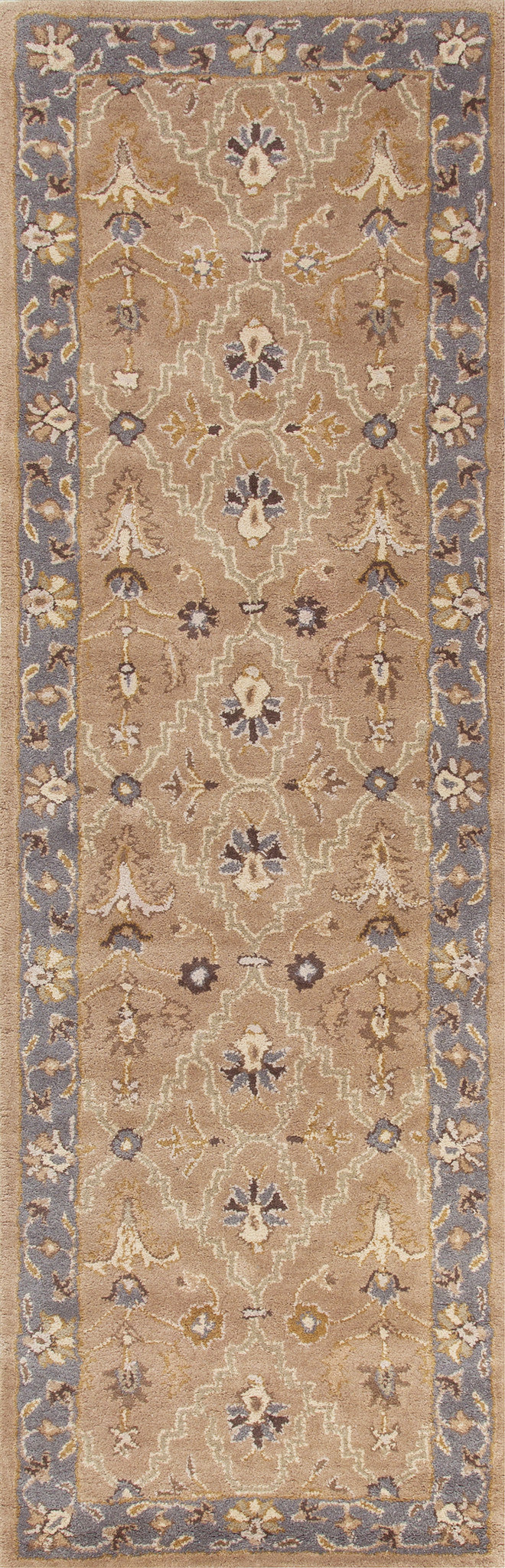 Jaipur Rugs Classic Oriental Pattern Taupe/Blue Wool Area Rug