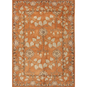 Jaipur Rugs Classic Arts And Crafts Pattern Orange/Green Wool Area Rug