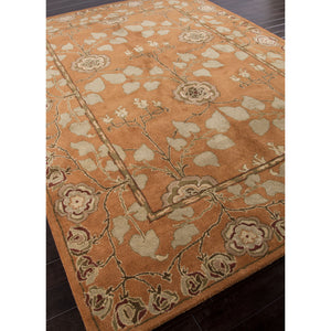 Jaipur Rugs Classic Arts And Crafts Pattern Orange/Green Wool Area Rug PM57 (Rectangle)