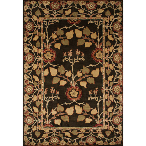 Jaipur Rugs Classic Arts And Crafts Pattern Brown/Yellow Wool Area Rug