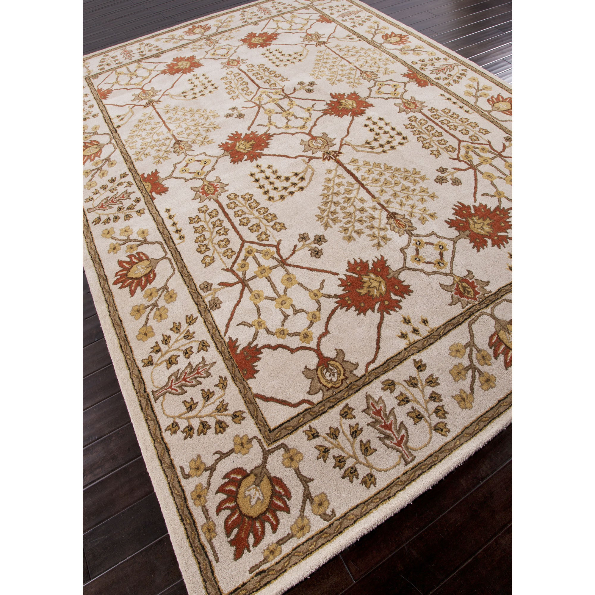 jaipur rugs classic arts and crafts pattern ivoryred wool area rug pm72 rectangle