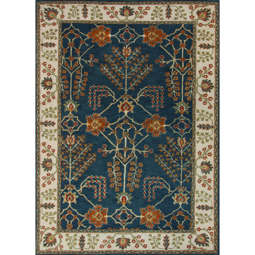 Jaipur Rugs Classic Arts And Crafts Pattern Blue/Ivory Wool Area Rug