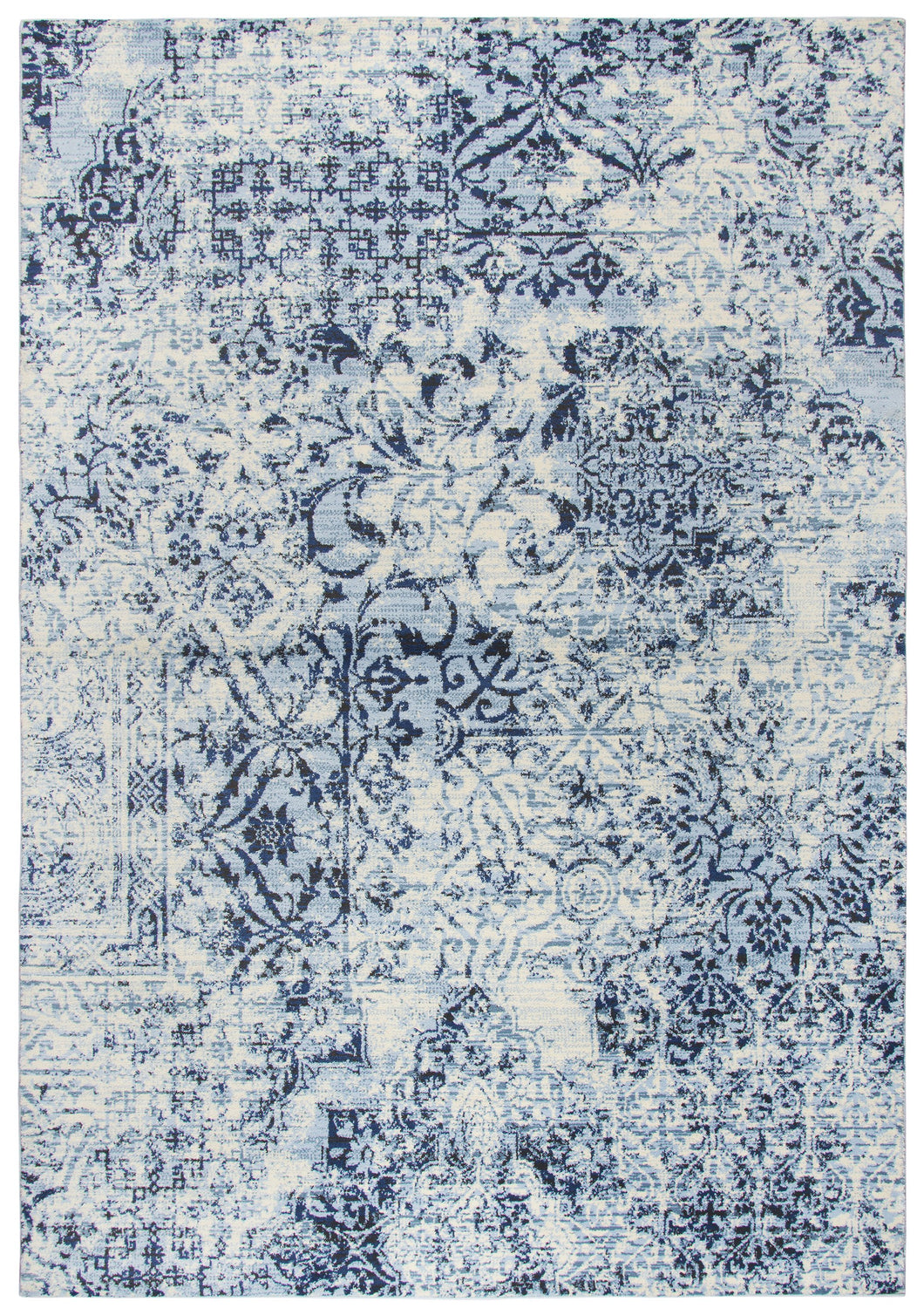 Rizzy Home Panache PN6959 Ivory Patch Work Floral Area Rug