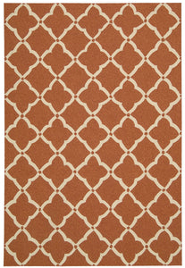Nourison Portico Orange Area Rug POR01 ORG