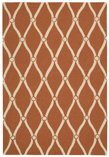 Nourison Portico Orange Area Rug POR02 ORG