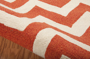 Nourison Portico Orange Area Rug POR03 ORG (Rectangle)