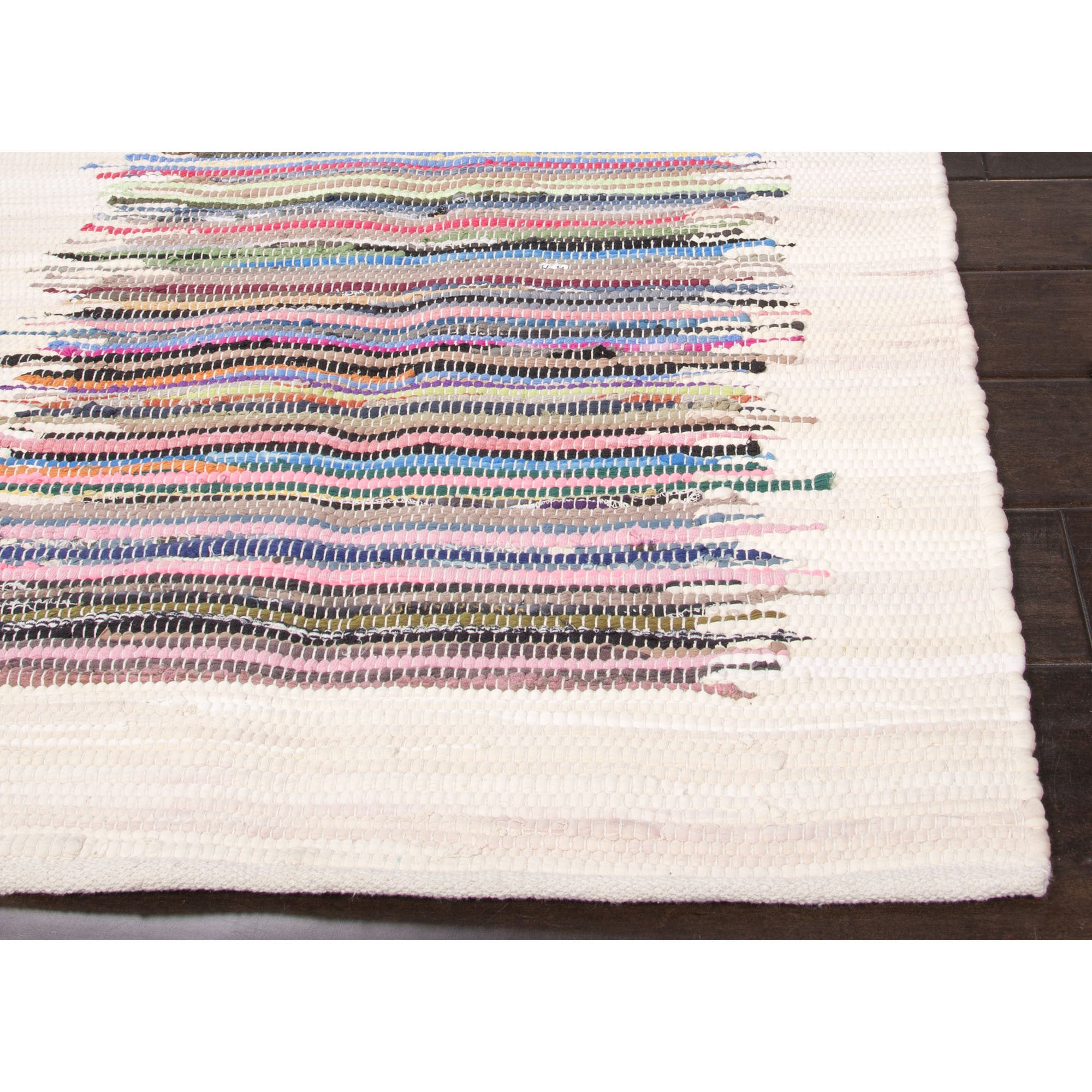 Jaipur Rugs Accent Stripe Pattern Multi Ivory Cotton Area