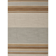 Load image into Gallery viewer, Jaipur Rugs Flat-Weave Stripe Pattern Blue/Brown Wool Area Rug