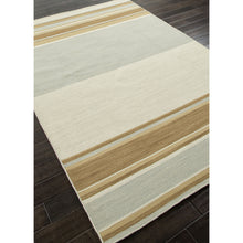 Load image into Gallery viewer, Jaipur Rugs FlatWeave Stripe Pattern Blue/Brown Wool Area Rug PV05 (Rectangle)