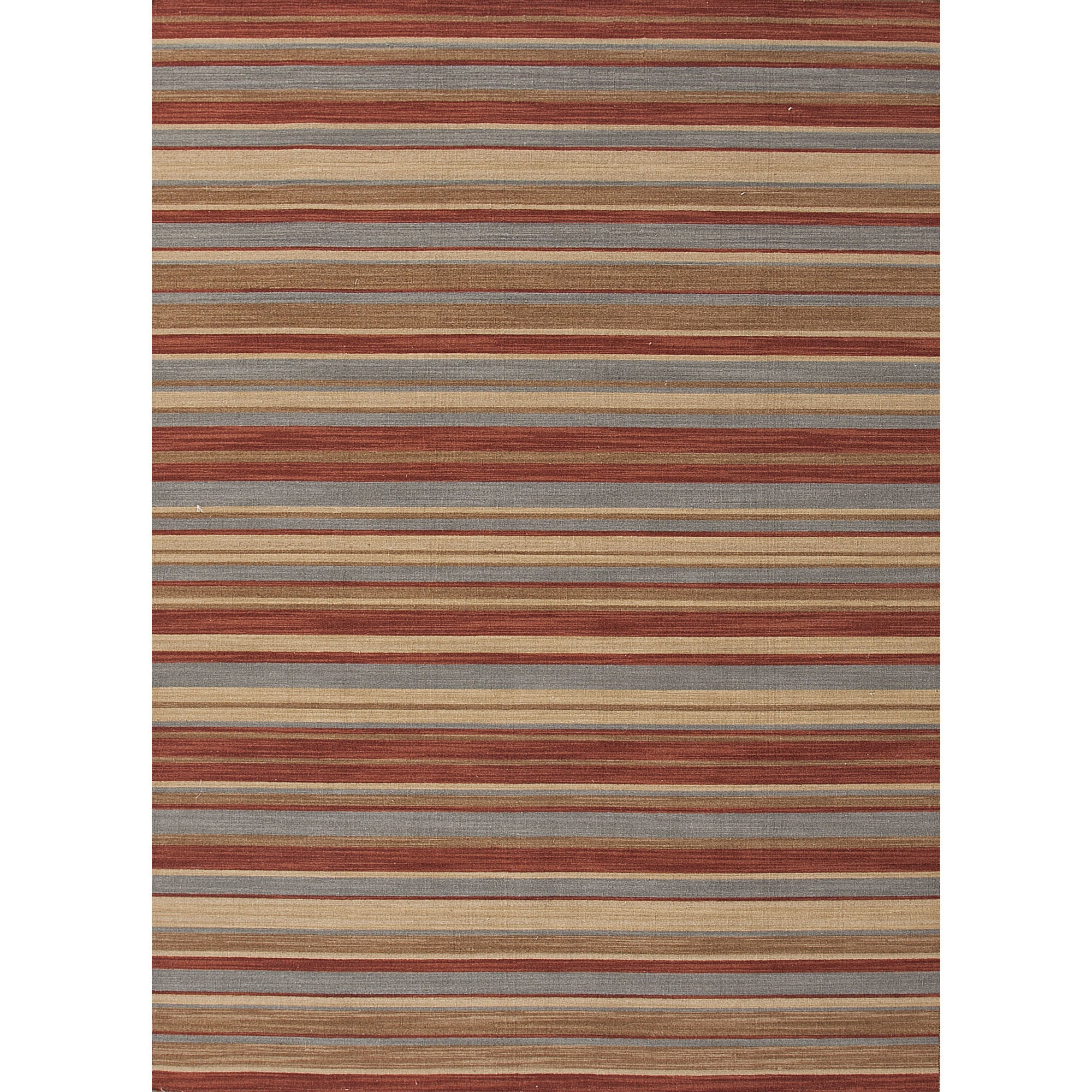Jaipur rugs flatweave stripe pattern blue red wool area for Red and blue area rug