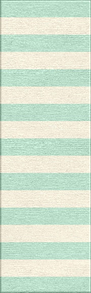 Jaipur Rugs Flat-Weave Stripe Pattern Blue/Ivory Wool Area Rug