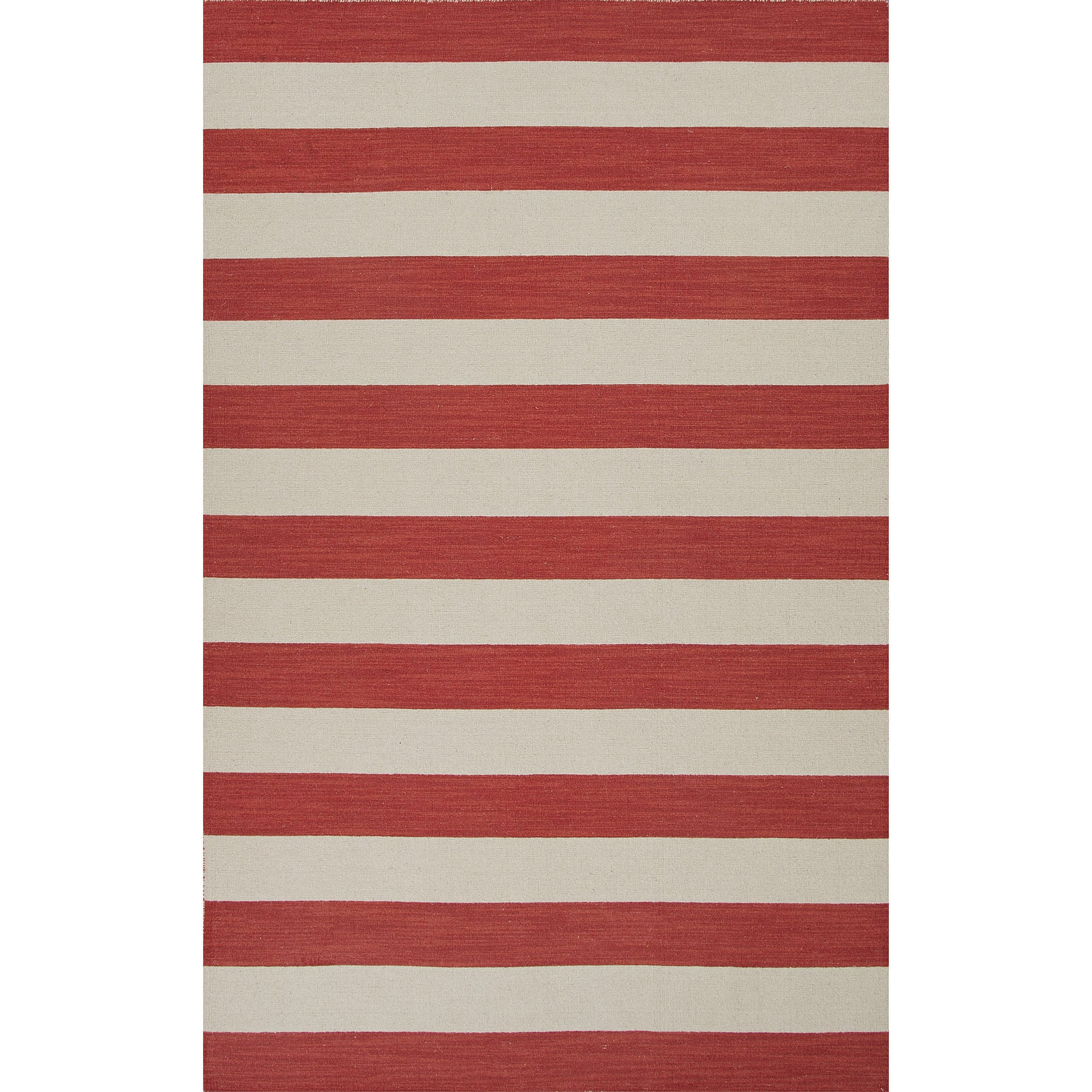 Jaipur Rugs FlatWeave Stripe Pattern Red/Ivory Wool Area Rug PV49 (Rec u2013 RugMethod