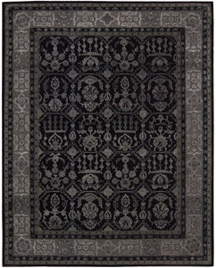Nourison Regal Black Area Rug REG01 BLK