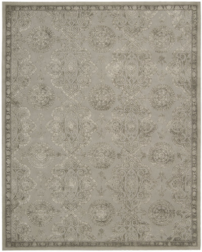 Nourison Regal Grey Area Rug REG06 GRY