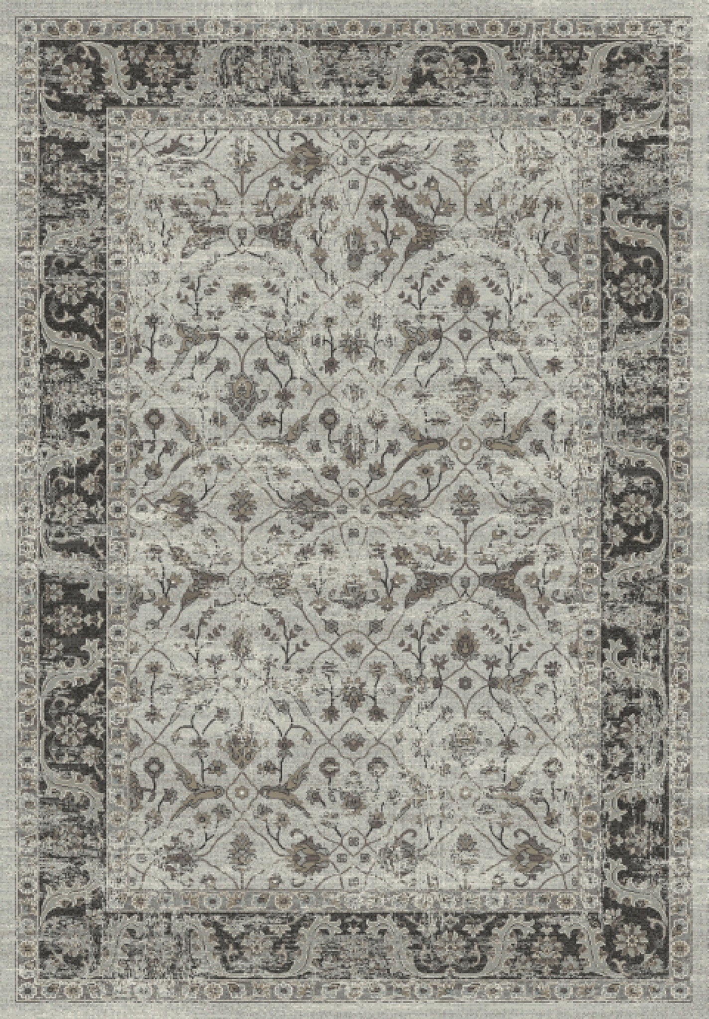 Dynamic Rugs Regal Grey Silver Distressed Rectangle Area