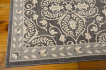 Load image into Gallery viewer, Nourison Riviera Graphite Area Rug RI01 GRAPH