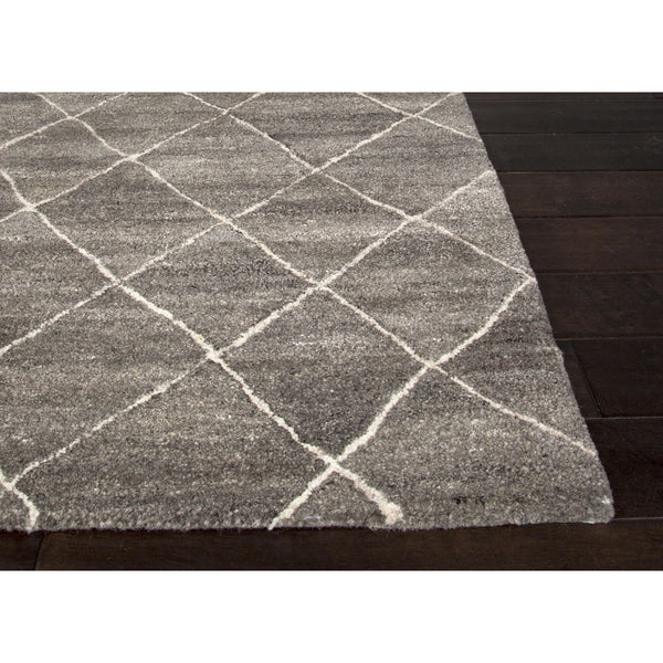 Jaipur rugs modern geometric pattern gray ivory wool area for Geometric print area rugs
