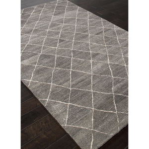 Jaipur Rugs Modern Geometric Pattern Gray/Ivory Wool Area Rug RIA01 (Rectangle)