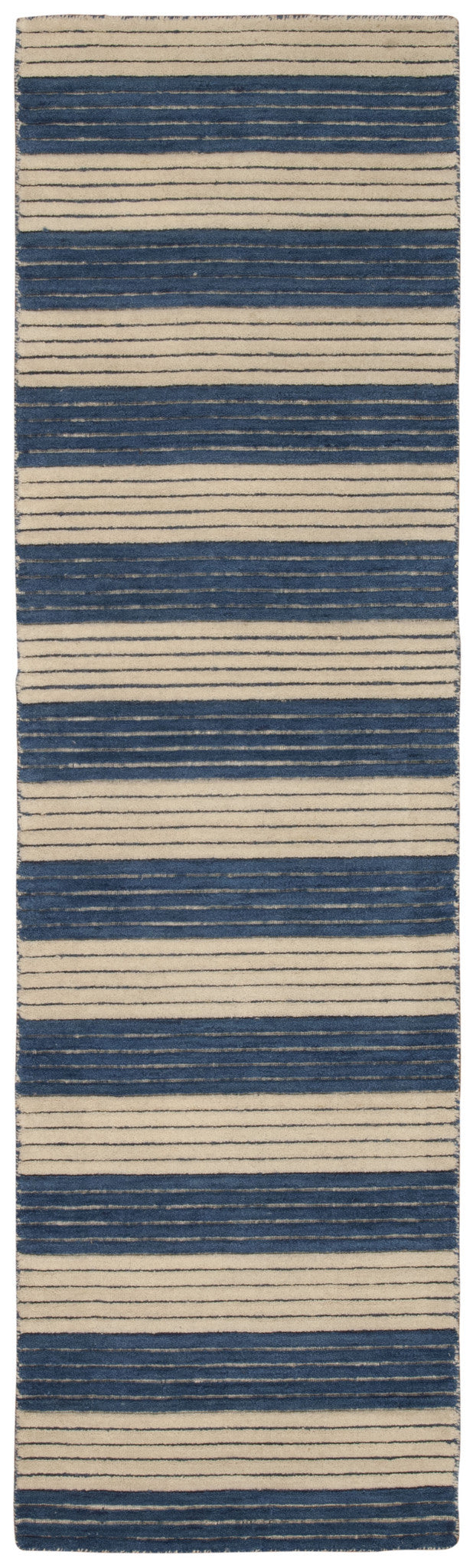 Barclay Butera Ripple Midnight Blue Area Rug By Nourison RIP02 MIDBL (Runner) | BOGO USA