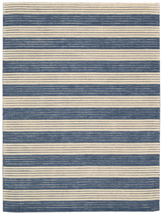 Barclay Butera Ripple Midnight Blue Area Rug By Nourison RIP02 MIDBL (Rectangle) | BOGO USA
