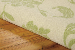Nourison Home & Garden Green Area Rug RS014 GRE (Rectangle)