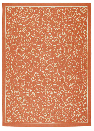 Nourison Home & Garden Orange Area Rug RS019 ORG