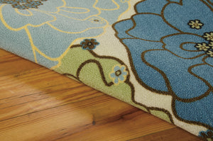 Nourison Home & Garden Light Blue Area Rug RS021 LTB (Rectangle)