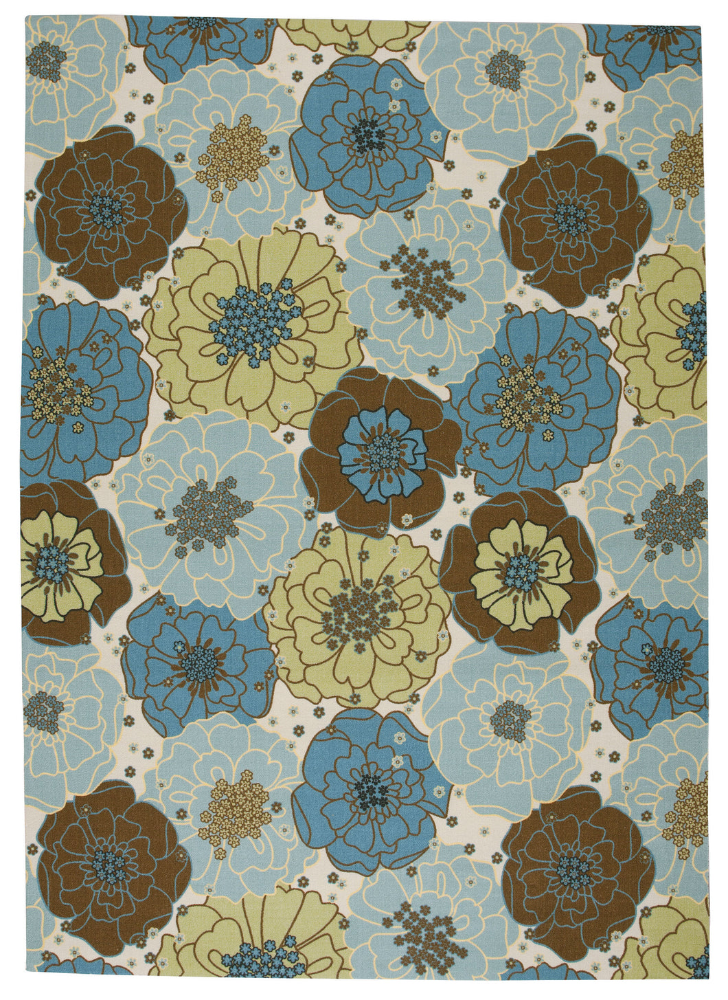 Nourison Home & Garden Light Blue Area Rug RS021 LTB