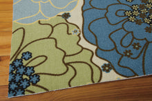 Load image into Gallery viewer, Nourison Home & Garden Light Blue Area Rug RS021 LTB (Rectangle)