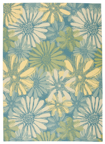 Nourison Home & Garden Blue Area Rug RS022 BL