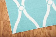Load image into Gallery viewer, Nourison Home & Garden Aqua Area Rug RS089 AQU (Rectangle)