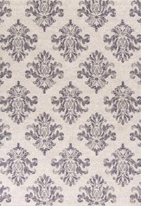 Kas Rugs Reflections 7431 Grey Damask Area Rug
