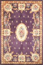 Load image into Gallery viewer, Kas Rugs Ruby 8903 Plum Fleur-De-Lis Aubusson Area Rug